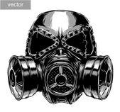 Illustrazione di maschera antigas