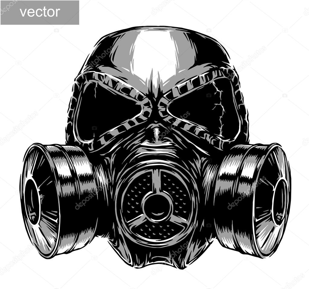 gas mask illustration stock vector doublebubble 87095160