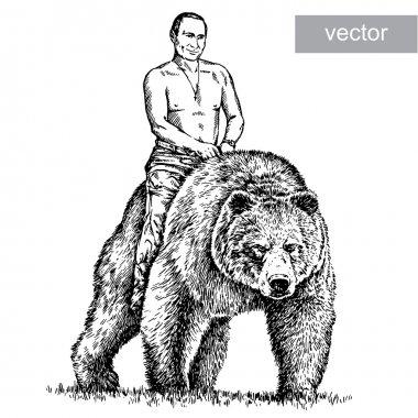 Illustration of President Vladimir Putin