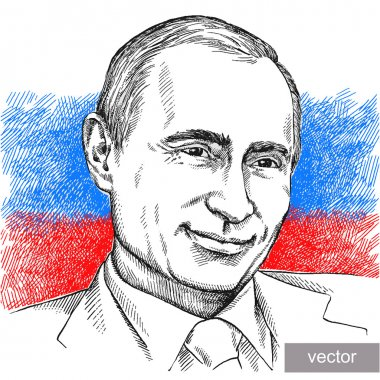 Illustration of President Vladimir Putin