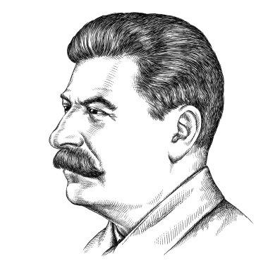 illustration of Joseph Stalin portrait