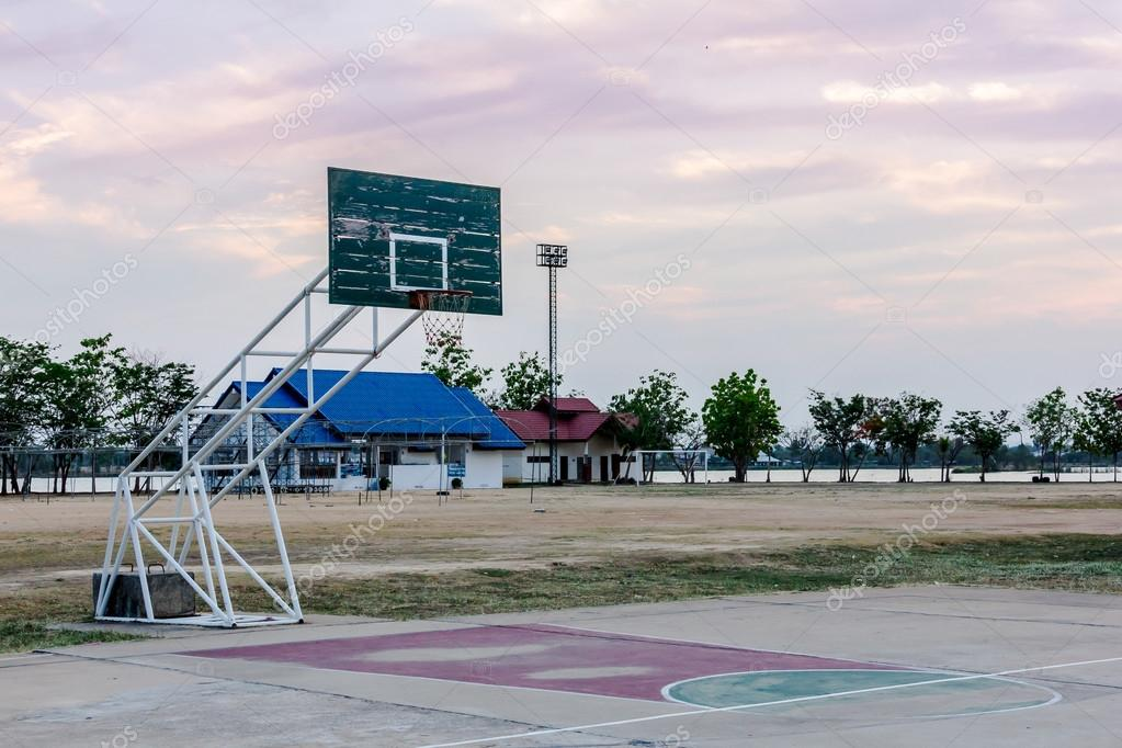 Basketball court in public park