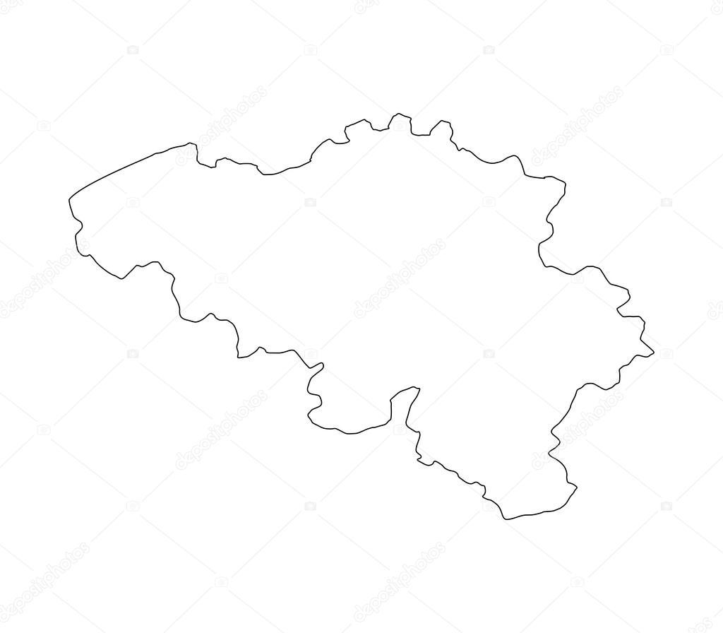 Carte Belgique Noir Et Blanc.Carte De Belgique Illustree Sur Fond Blanc Photographie