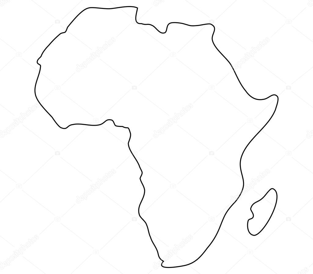 Carte De Lafrique Noir Et Blanc.Carte De L Afrique Sur Fond Blanc Photographie