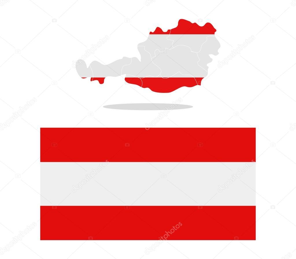 ausztria térkép régiók Ausztria Térkép val egy fehér háttér régiók — Stock Fotó  ausztria térkép régiók