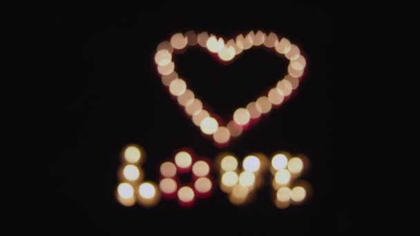 Transition to glowing heart and love