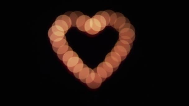 Zářící srdce rozostření
