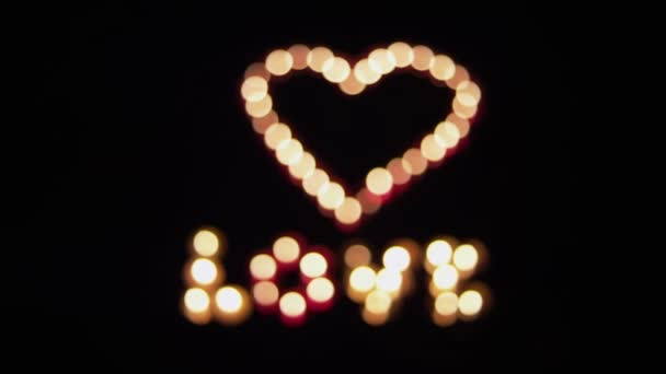 Glowing heart with love