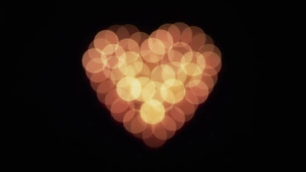 Zářící svíčky srdce