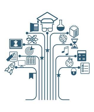education tree icons