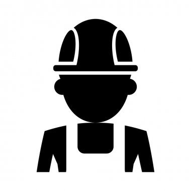 Worker silhouette icon