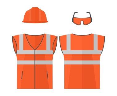 Orange high visibility vest