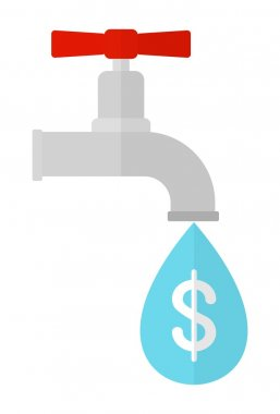 ecology water dollars in drop of water