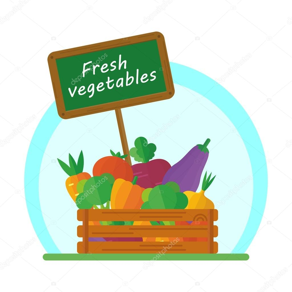 vegetables in box
