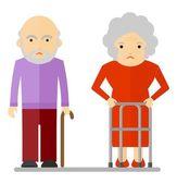 coppia di anziani triste