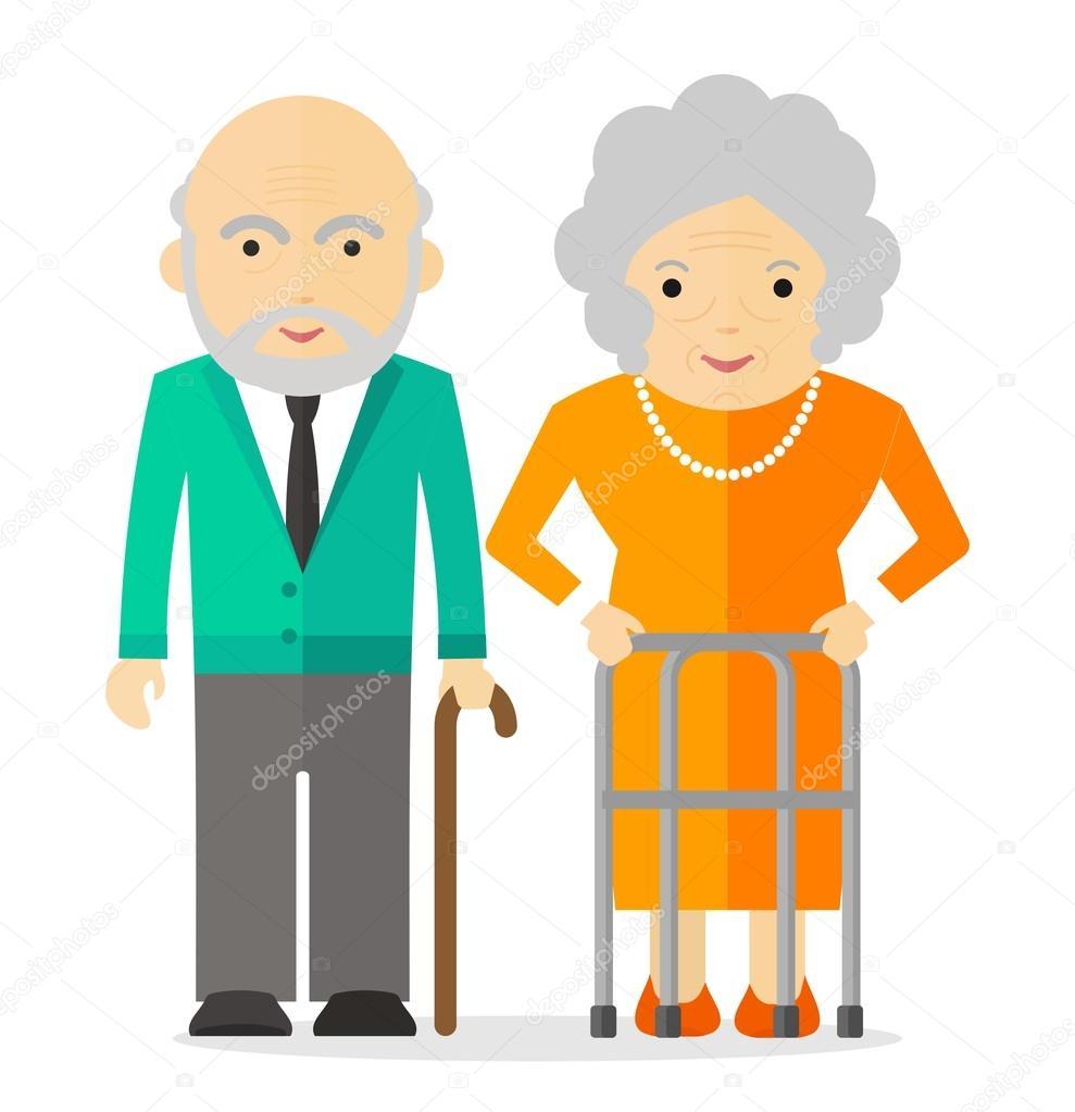 pareja mayor feliz vector de stock  u00a9 quarta 108187380 old couple clipart free old couple dancing clipart