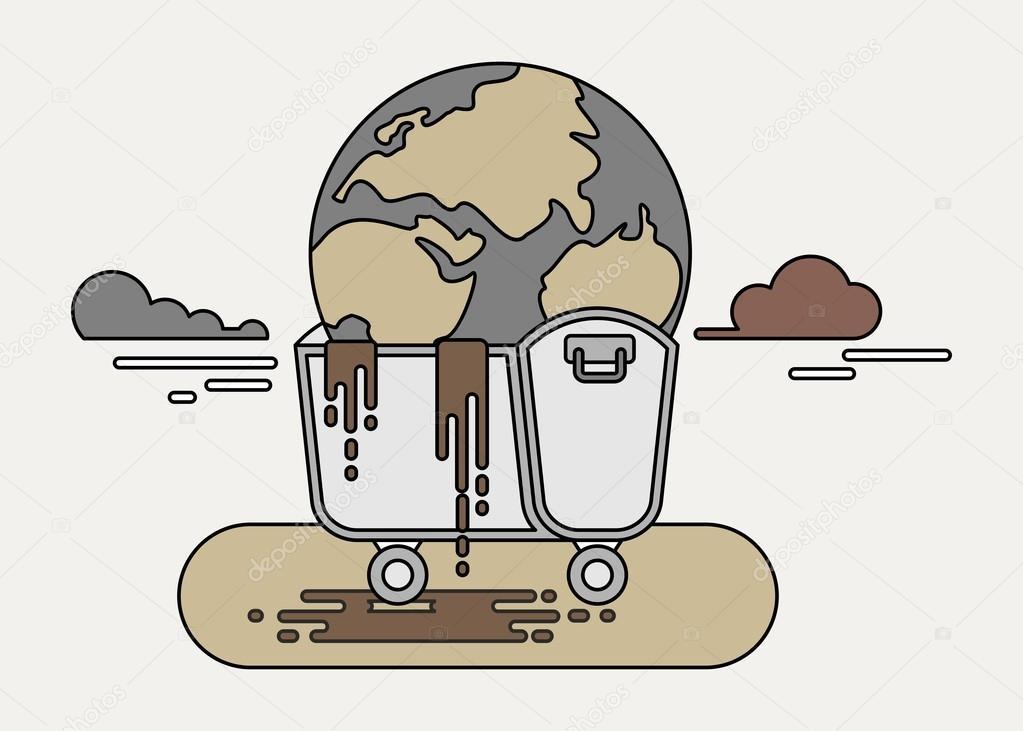 Imágenes Mundo Contaminado Animadas Líneas Puede Colorear Planeta