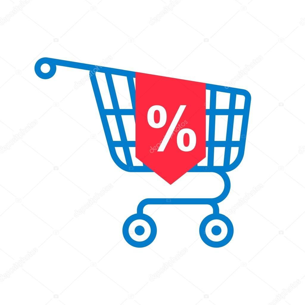 Carrito de la compra con el porcentaje de descuento - Carrito dela compra ...