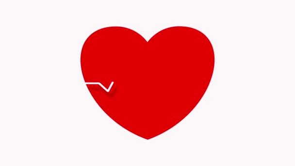 Herzfrequenzmessgerät. Pulsierende Linie auf dem Display.