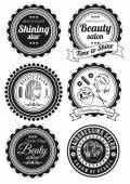 Fotografie Set of badges for beauty and haidressing salons