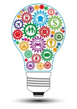 Insurance light bulb design concept