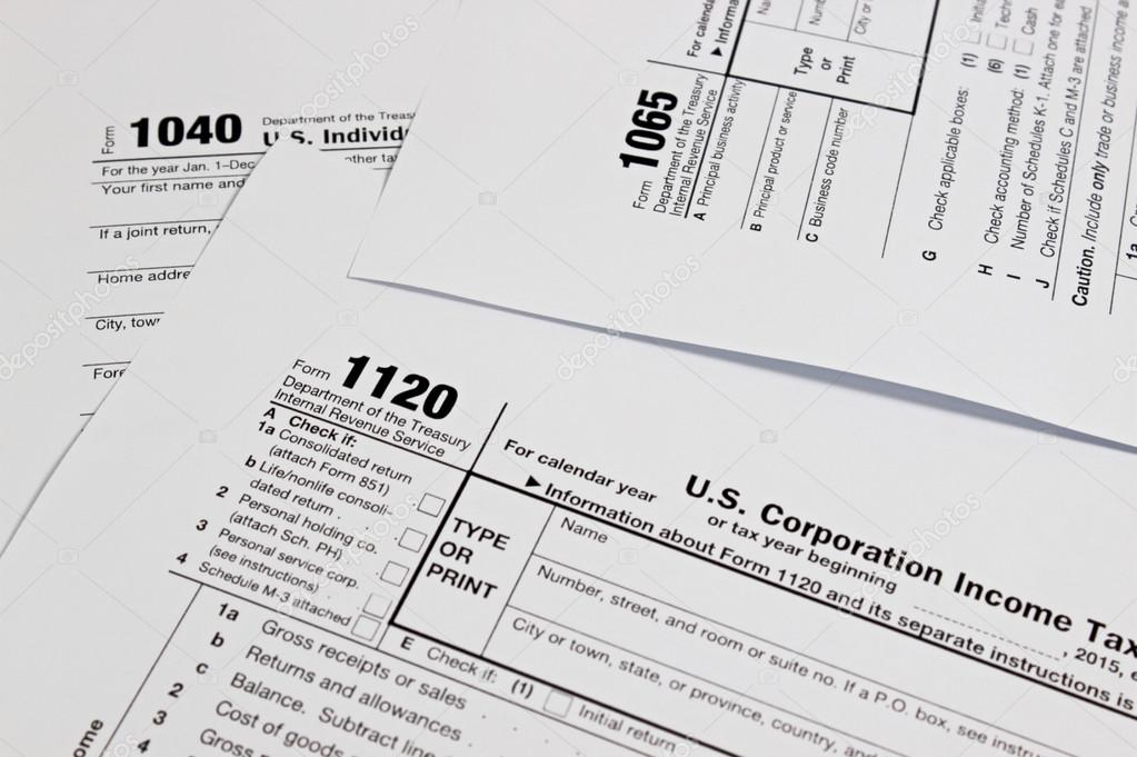 Us Tax Form Stock Photo Manop1984 119430940