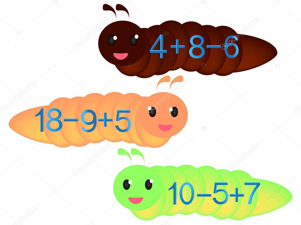 Illustration of mathematical addition and subtraction.