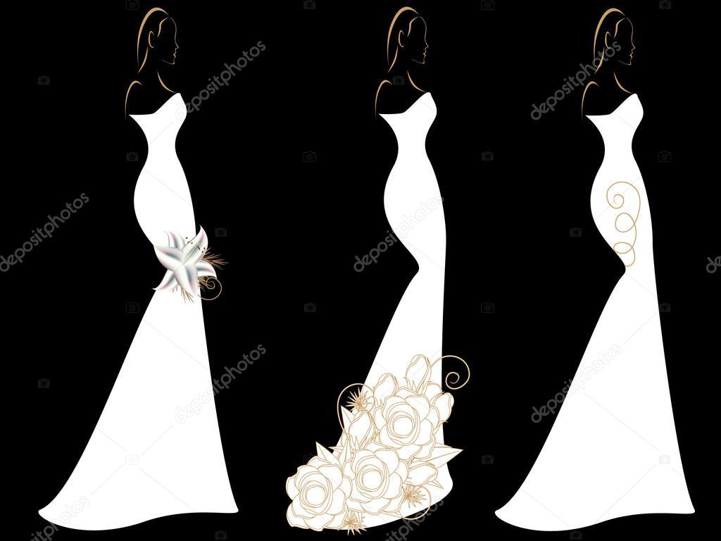 Imagenes de mujer con vestido de novia