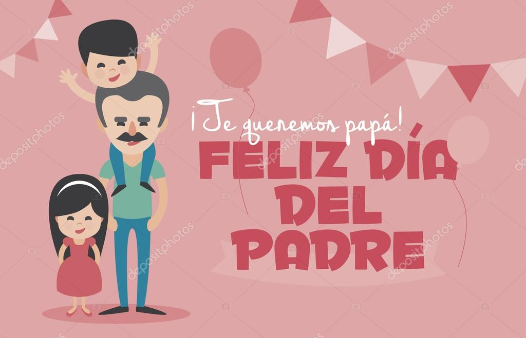 happy fathers day pink card vector element set we love you dad
