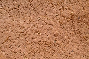 Adobe wall texture, material construction. Detail