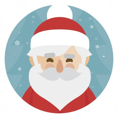 Santa Claus character illustration. Merry Christmas