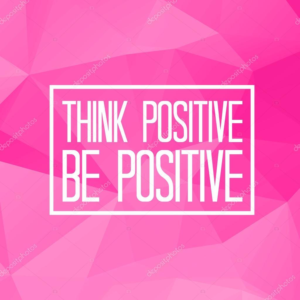 Pozytywna Myśl Być Pozytywne Grafika Wektorowa