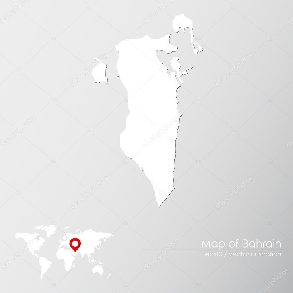 Bahrain with world map — Stock Vector © Shekularaz #114960298