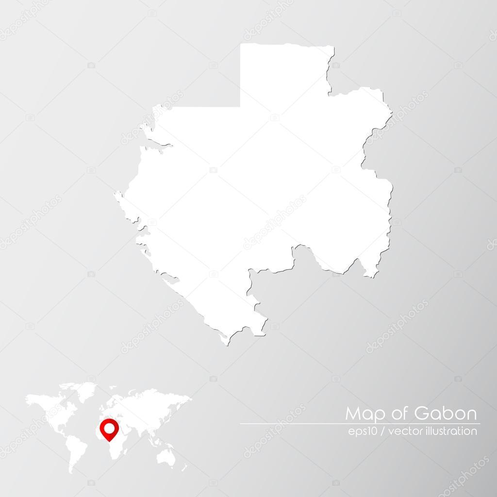 Gabon World Map.Gabon With World Map Stock Vector C Shekularaz 114961046