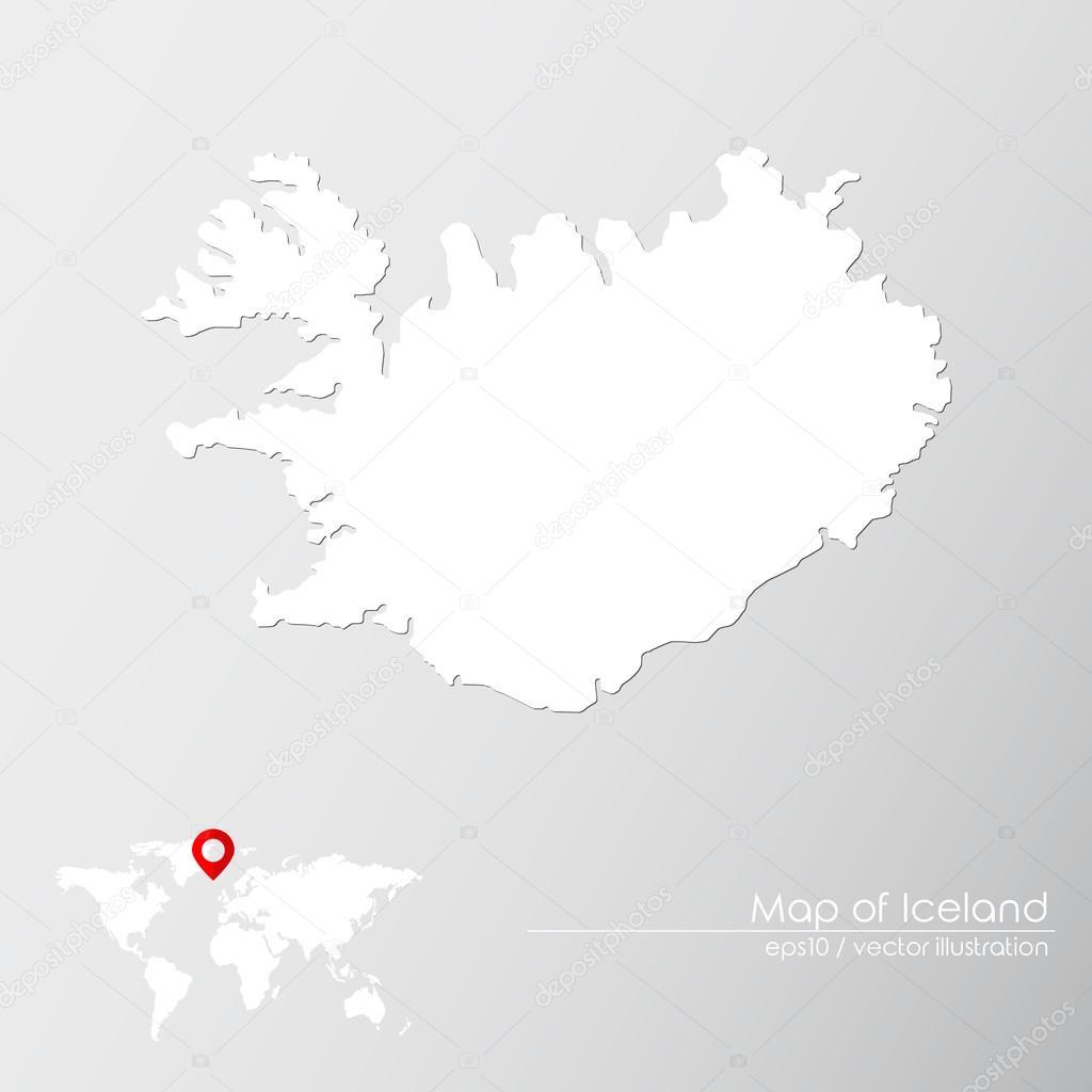 Iceland with world map — Stock Vector © Shekularaz #114961232