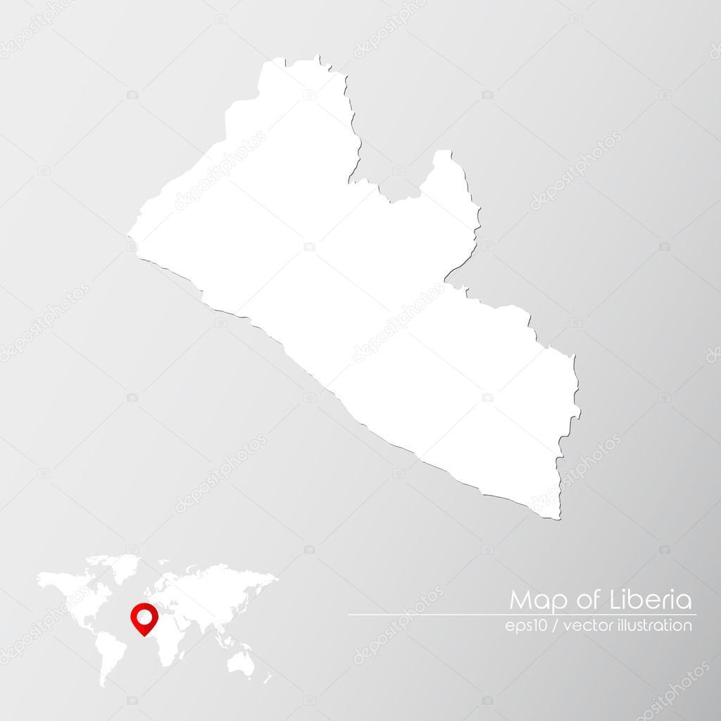 Liberia With World Map Stock Vector C Shekularaz 114961510