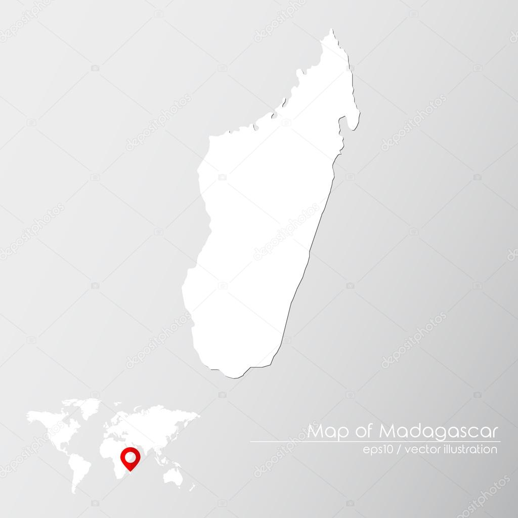 Madagascar with world map — Stock Vector © Shekularaz #114961562