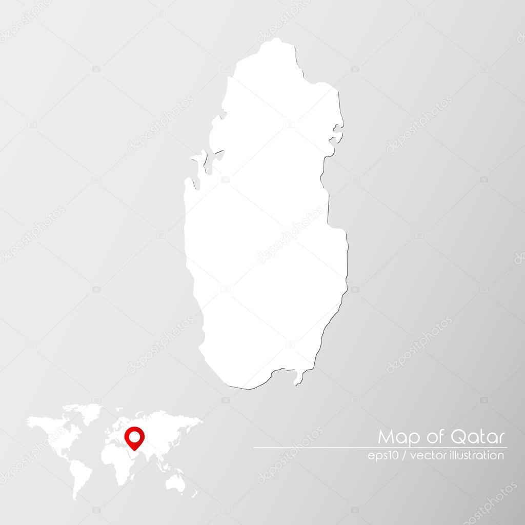 Carte Du Monde Qatar.Qatar Avec Carte Du Monde Image Vectorielle Shekularaz C 114961906