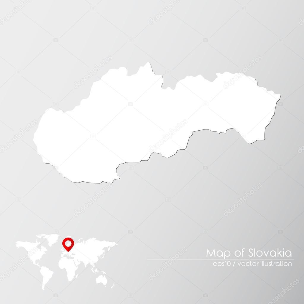 Slovakia With World Map Stock Vector C Shekularaz 114962058