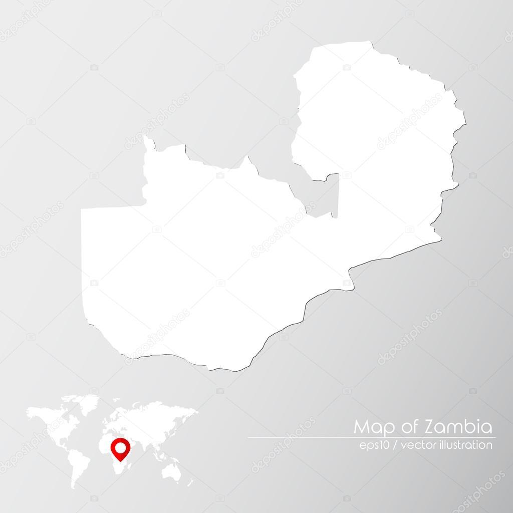 Zambia con mapa del mundo vector de stock shekularaz 114962788 zambia con mapa del mundo vector de stock gumiabroncs Gallery