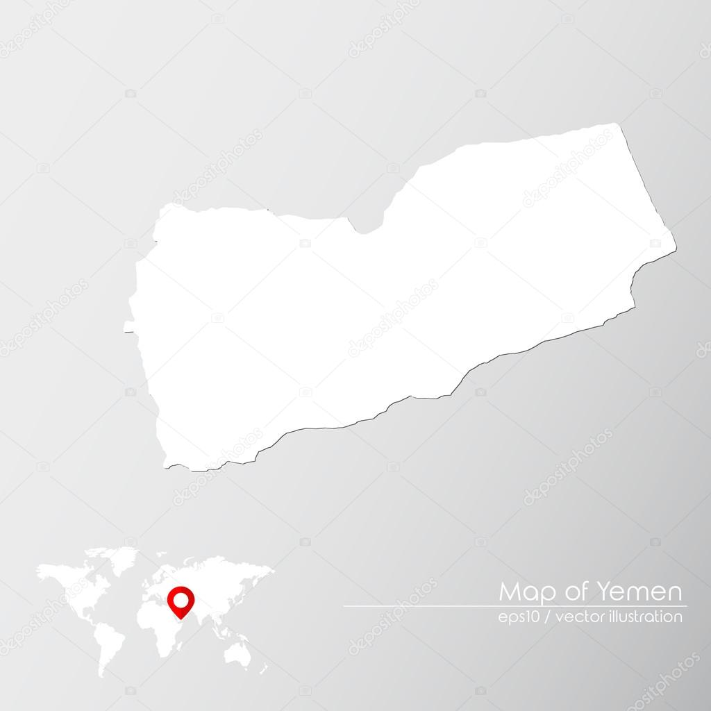 Yemen With World Map Stock Vector C Shekularaz 114962794