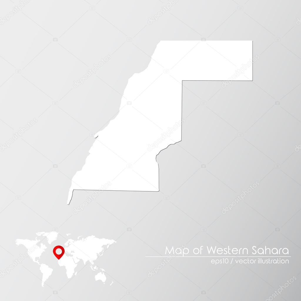 Western Sahara With World Map Stock Vector C Shekularaz 114962796