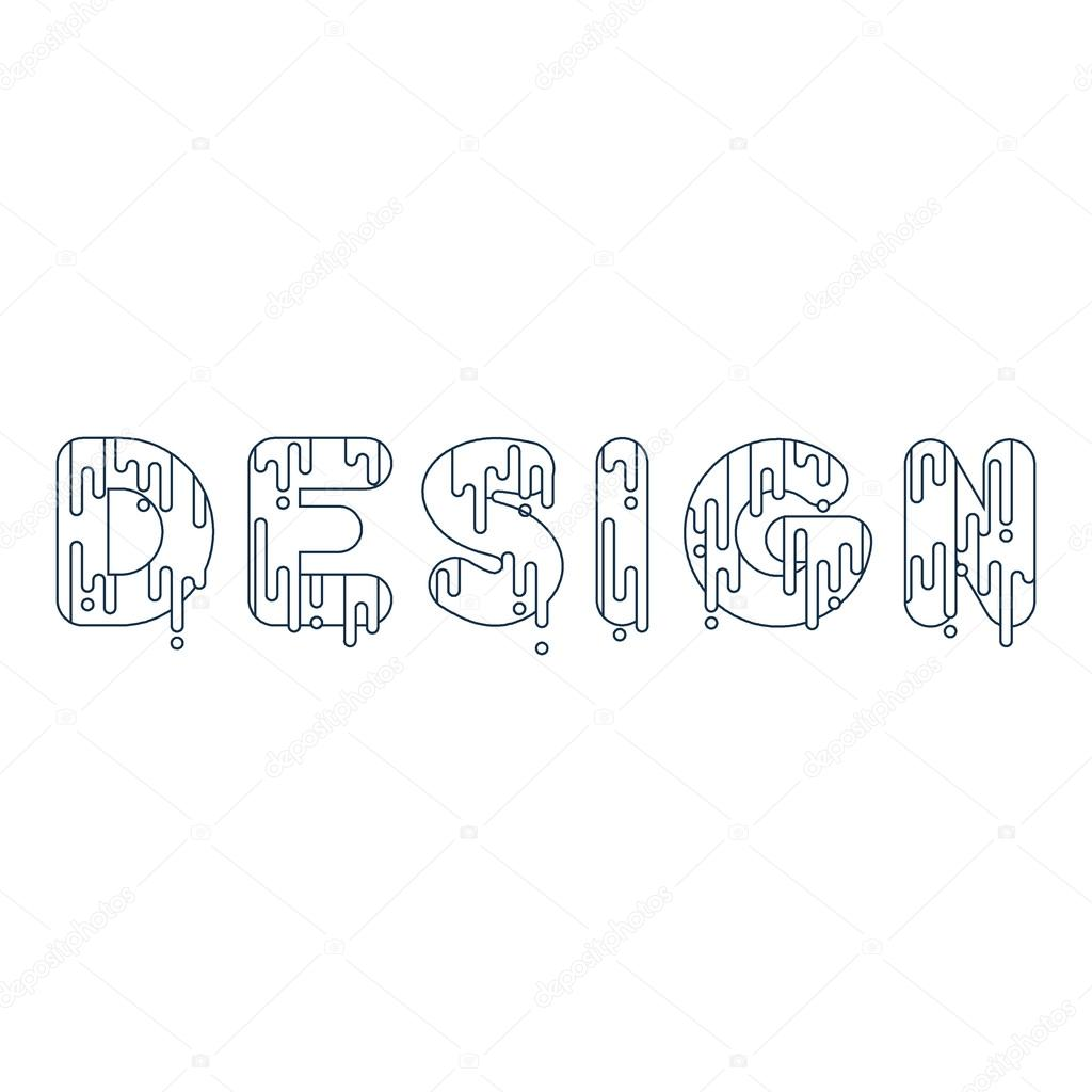 Bubble font with dripping paint– stock illustration