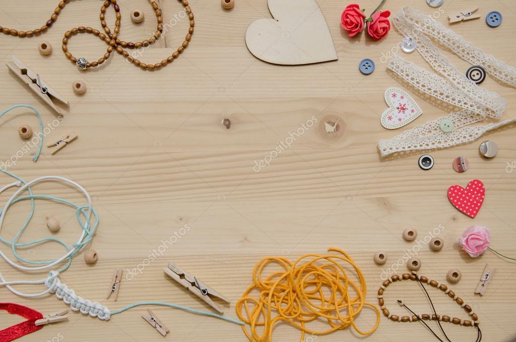 Conjunto de elementos para artesanato e artigos for Accesorios decorativos para oficina