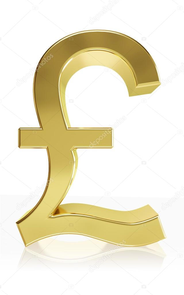 Photorealistic Symbol Of The Currency Symbol Pound Stock Photo