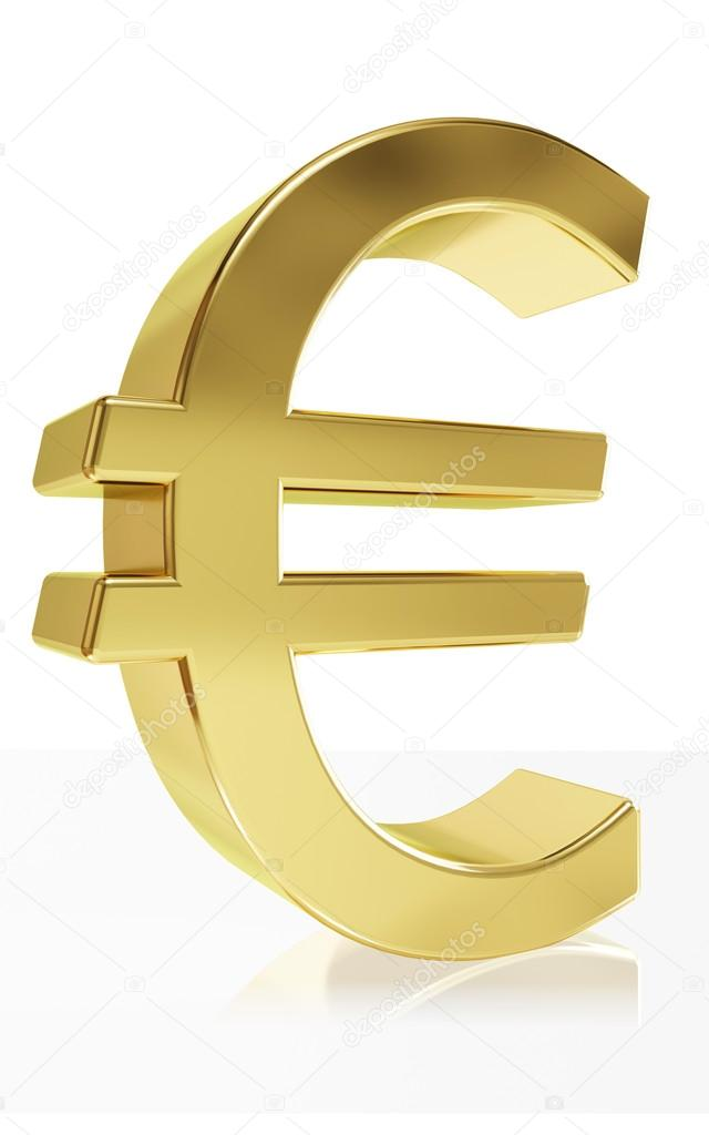 Photorealistic Symbol Of The Currency Symbol Euro Stock Photo