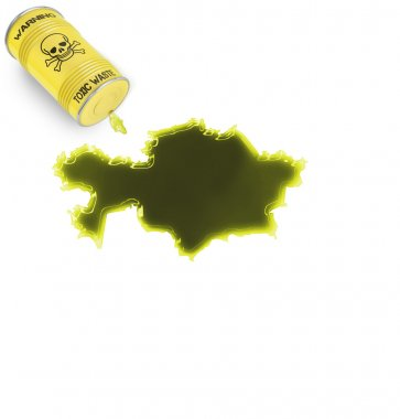 Toxic waste in the shape of Kazahkstan (series)