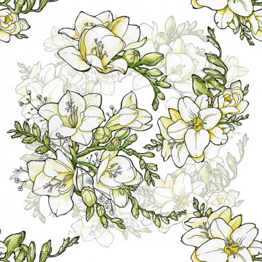 pattern with freesia