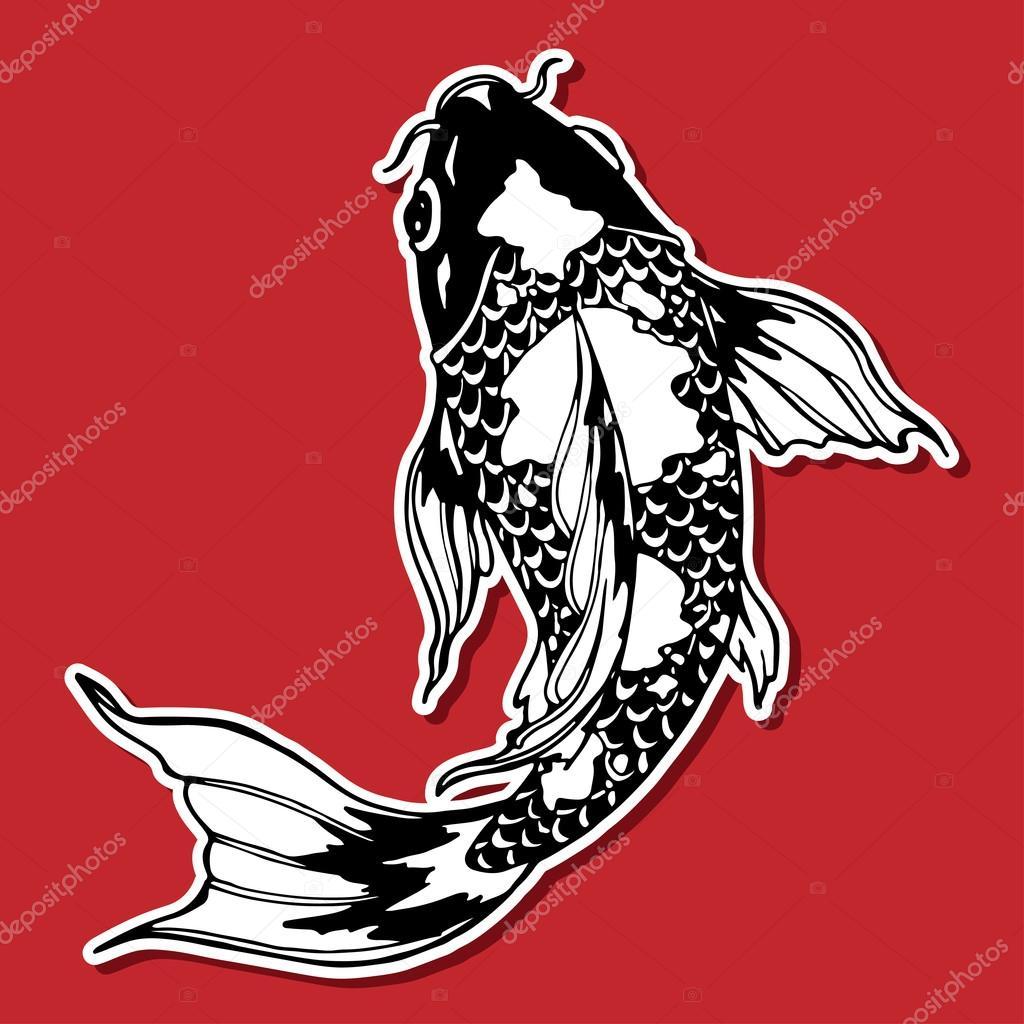 koi fish; ying yang symbol — Stock Photo © Xaxalerik #98709850
