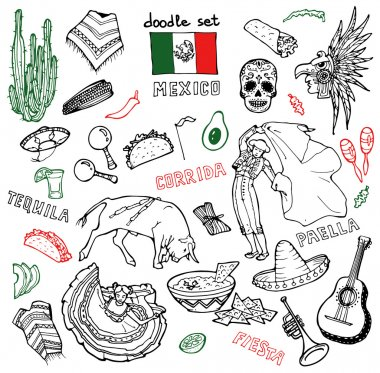 illustration of mexican stuff